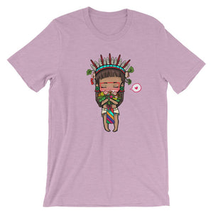 Chibi Xochipilli Aztec Indian Shirt inspired Mesoamerican art
