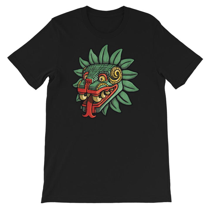 bella canvas, t shirt, quetzalcoatl image, esureste, black
