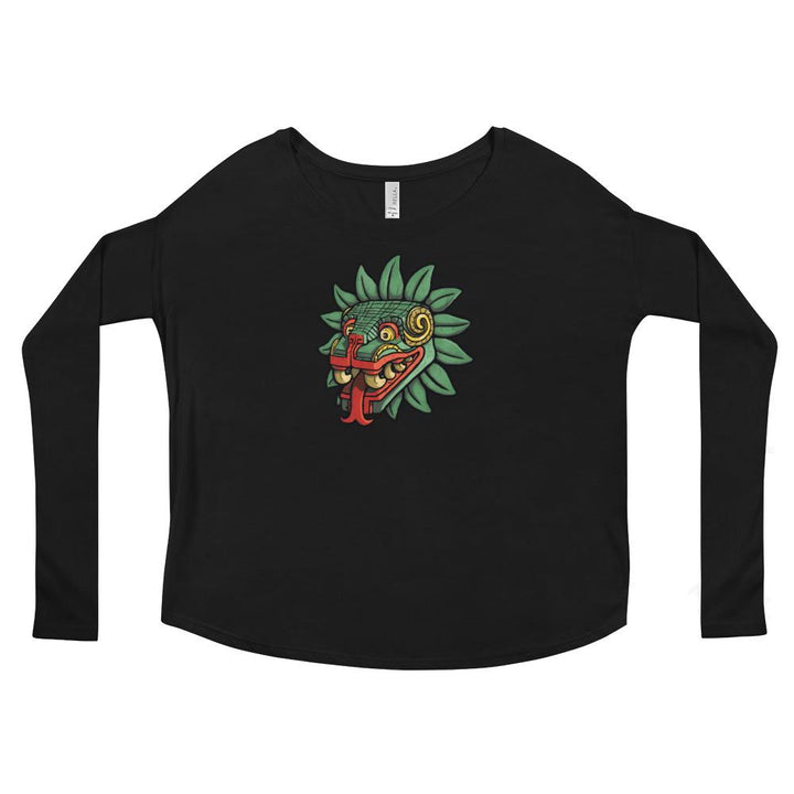 Aztec God Quetzalcoatl Serpent Ladies' Long Sleeve Tee