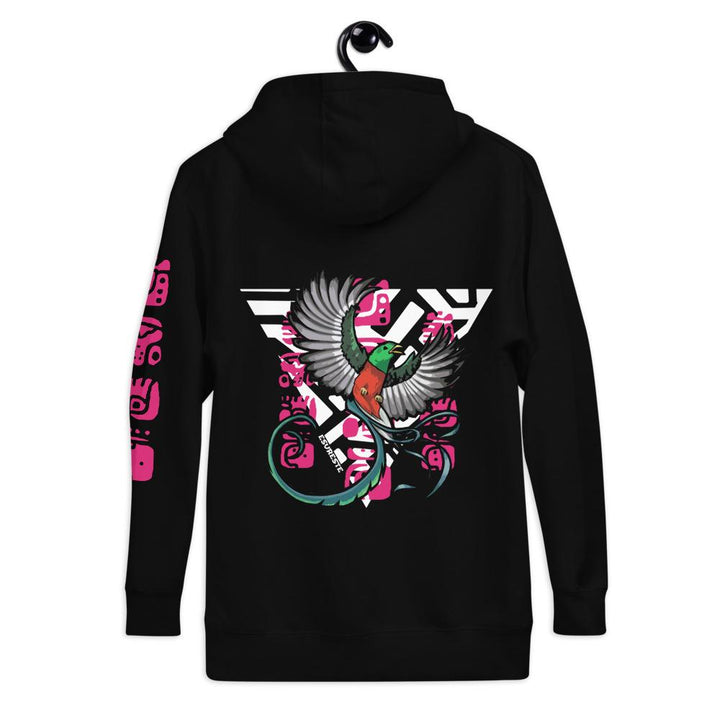 esureste, quetzal bird, mayan glyph, love glyph, tribal female triangle, black