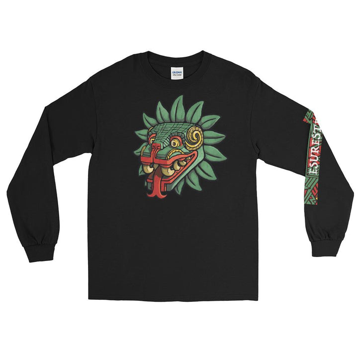 Aztec God Quetzalcoatl Serpent Long Sleeve Shirt