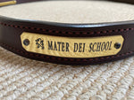 CUSTOM STITCHED MATER DEI GRIFFIN BROWN LEATHER BELT