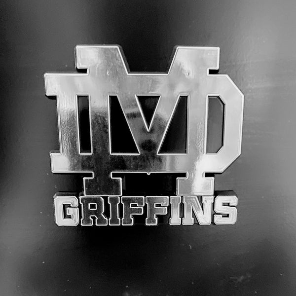 MD Griffin 3-D Chrome Auto Emblem