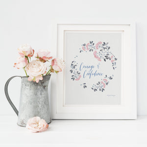 Courage & Confidence Wall Art | Inspiration All Around You Oh, Yes! Designs