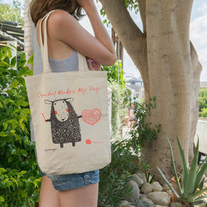 Crochet Makes My Day | Knitting Crochet Tote Bag Exclusive to Oh, Yes! Designs