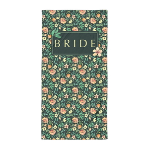 Dark Green Beach Towel for Bride Exclusive to Oh, Yes! Designs