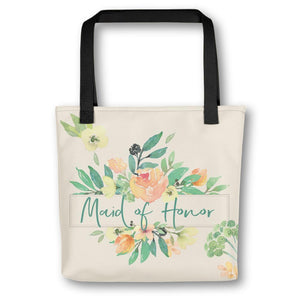 Floral Tote Bag for Maid of Honor | Italian Garden Exclusive to Oh, Yes! Designs
