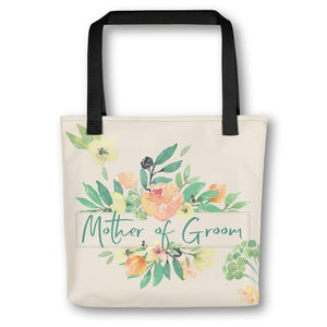 Floral Tote Bag for Mother of Groom | Italian Garden Exclusive to Oh, Yes! Designs