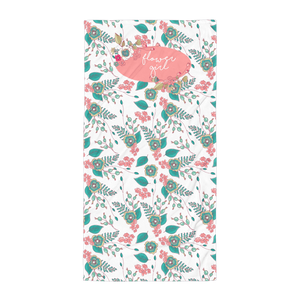 Flower Girl Beach Towel Exclusive to Oh, Yes! Designs