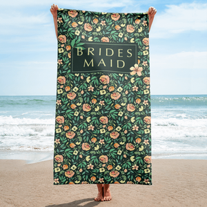 Green Beach Towel for Bridesmaid Exclusive to Oh, Yes! Designs
