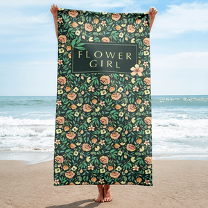 Green Beach Towel for Flower Girl Exclusive to Oh, Yes! Designs