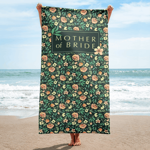 Green Beach Towel for Mother of Bride Exclusive to Oh, Yes! Designs