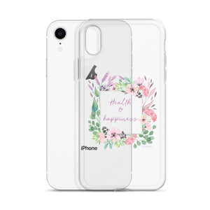 Health & Happiness Clear iPhone Case | Floral Inspiration Exclusive to Oh, Yes! Designs