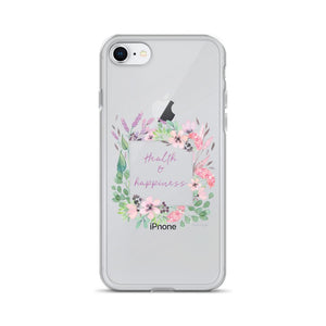 Health & Happiness Clear iPhone Case | Floral Inspiration Exclusive to Oh, Yes! Designs iPhone 7/8