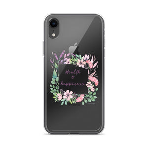 Health & Happiness Clear iPhone Case | Floral Inspiration Exclusive to Oh, Yes! Designs iPhone XR