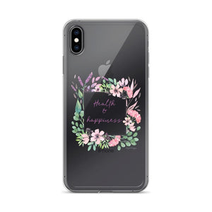 Health & Happiness Clear iPhone Case | Floral Inspiration Exclusive to Oh, Yes! Designs iPhone XS Max