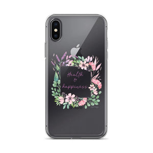 Health & Happiness Clear iPhone Case | Floral Inspiration Exclusive to Oh, Yes! Designs iPhone X/XS