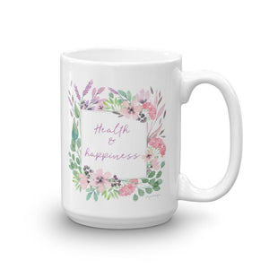 Health & Happiness Mug | Inspiration Every Day Exclusive to Oh, Yes! Designs 15oz