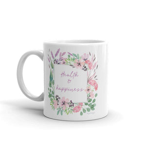 Health & Happiness Mug | Inspiration Every Day Exclusive to Oh, Yes! Designs