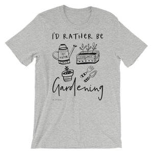 I'd Rather Be Gardening | Unisex T-Shirt Exclusive to Oh, Yes! Designs Athletic Heather S