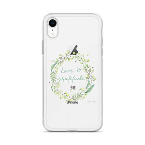 Love & Gratitude Clear iPhone Case | A Pretty Reminder Exclusive to Oh, Yes! Designs
