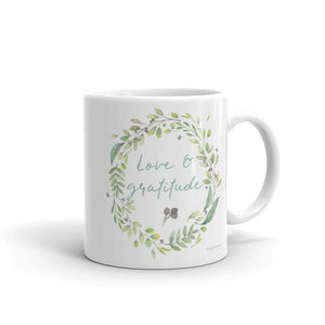 Love & Gratitude | Pretty & Inspiring Mug Exclusive to Oh, Yes! Designs 11oz