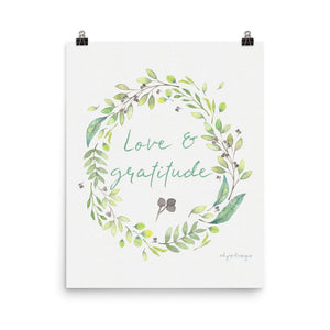 Love & Gratitude Printable | Instant Download Exclusive to Oh, Yes! Designs