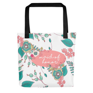 Maid of Honor Tote Bag | Joyful Flowers Exclusive to Oh, Yes! Designs