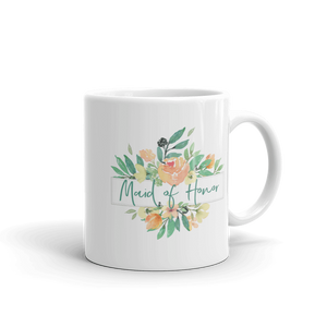 Mug for Maid of Honor | Italian Garden Exclusive to Oh, Yes! Designs 11oz