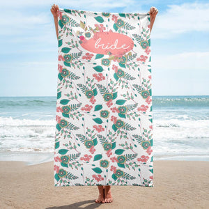 Pretty Beach Towel for Bride Exclusive to Oh, Yes! Designs
