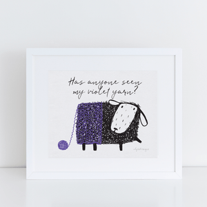 Printable Wall Art for Yarn-Lovers | Violet Yarn Exclusive to Oh, Yes! Designs