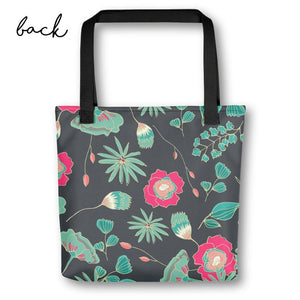 Tote Bag for Bride | Green Floral Exclusive to Oh, Yes! Designs