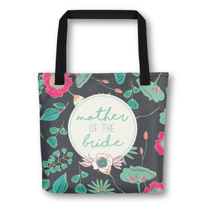 Tote Bag for Mother of Bride | Green Floral Exclusive to Oh, Yes! Designs