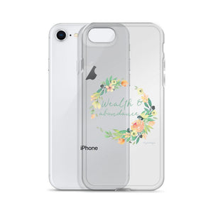 Wealth & Abundance Clear iPhone Case | A Mantra for Your Phone Exclusive to Oh, Yes! Designs
