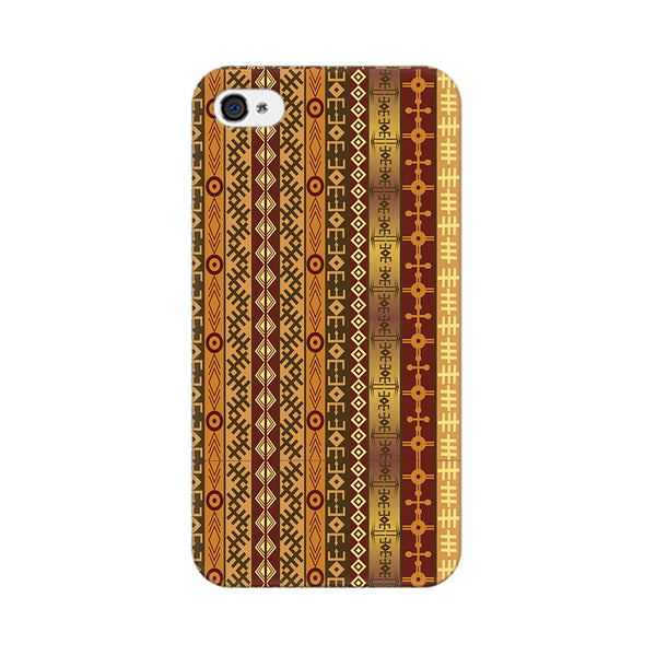 Orange Tribal Strips Apple iPhone 4 Mobile cover-Frequncy