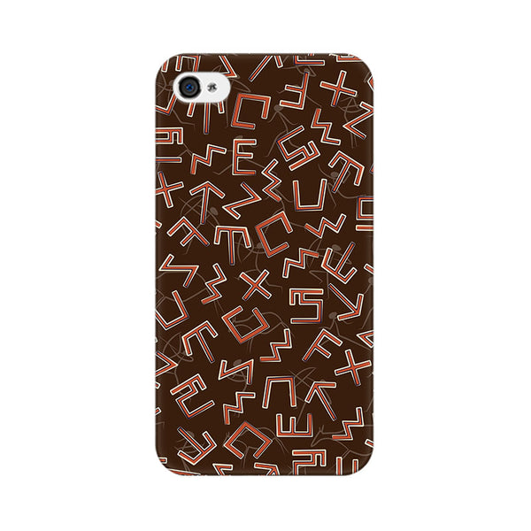 Tribal Alphabets Apple iPhone 4 Mobile cover-Frequncy