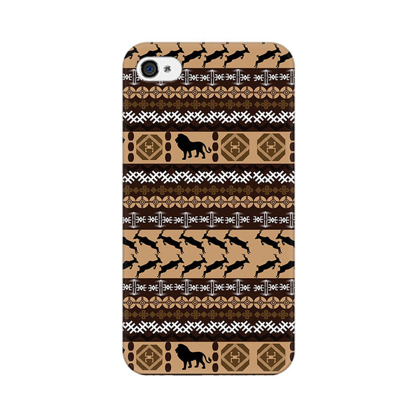 Tribal Lion Apple iPhone 4 Mobile cover-Frequncy