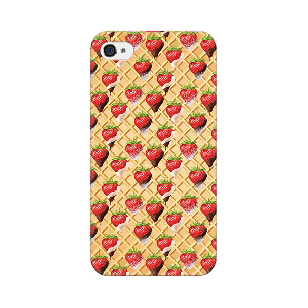 Strawberry Wafer Apple iPhone 4 Mobile cover-Frequncy