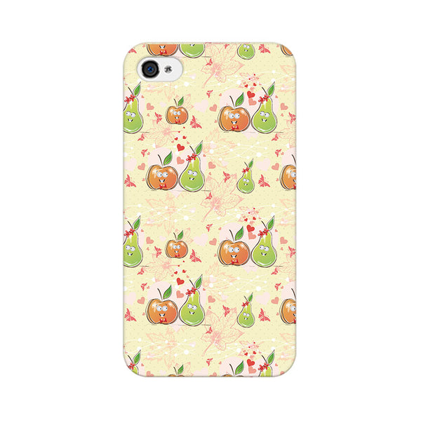 Apple And Pear Apple iPhone 4 Mobile cover-Frequncy