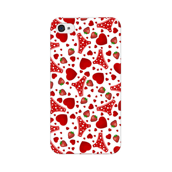 Panties And Strawberry Apple iPhone 4 Mobile cover-Frequncy