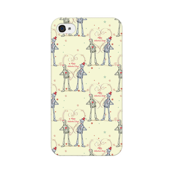 Robots With A Heart Apple iPhone 4 Mobile cover-Frequncy