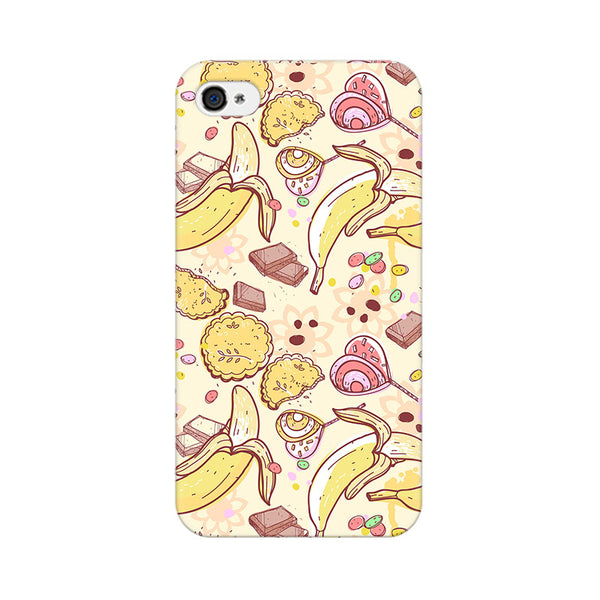 Sweet Banana Apple iPhone 4 Mobile cover-Frequncy