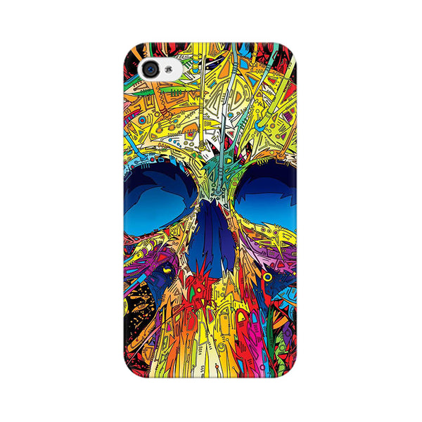 Abstract Skull Art Apple iPhone 4 Mobile cover-Frequncy