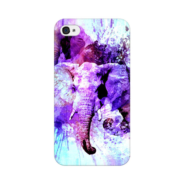 Watercolor Elephant Apple iPhone 4 Mobile cover-Frequncy