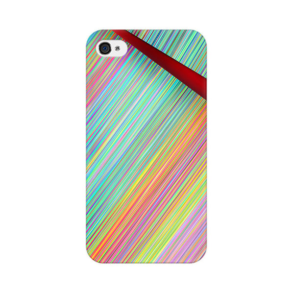 Broken Abstract Lines Apple iPhone 4 Mobile cover-Frequncy