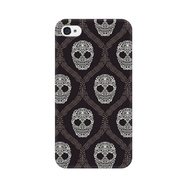 Floral Skull 2 Apple iPhone 4 Mobile cover-Frequncy