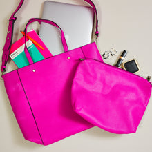 Hot pink and navy 2 in 1 tote bag — Ordinary Luminary