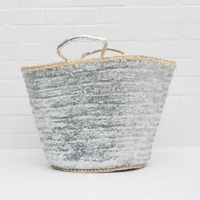 Large basket bag in silver | Ethically handmade in Morocco — Ordinary Luminary