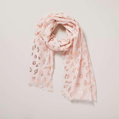 Leopard print pink and gold scarf — Ordinary Luminary