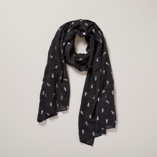 Pineapple scarf in black and metallic silver — Ordinary Luminary